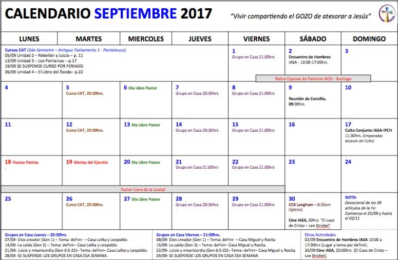 Septiembre 2017 Act